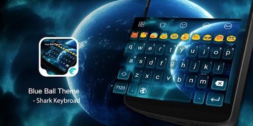 Emoji Keyboard-Blue Ball