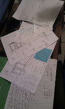 Photo: More planning - lots of considerations like how to add drawers