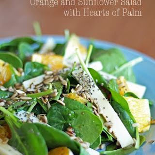 Orange and Sunflower Salad with Hearts of Palm