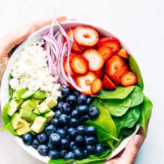 Avocado Strawberry Spinach Salad.