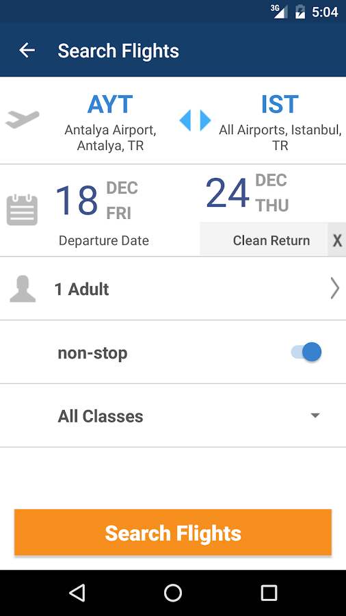 Aerobilet - Flights, hotels- screenshot