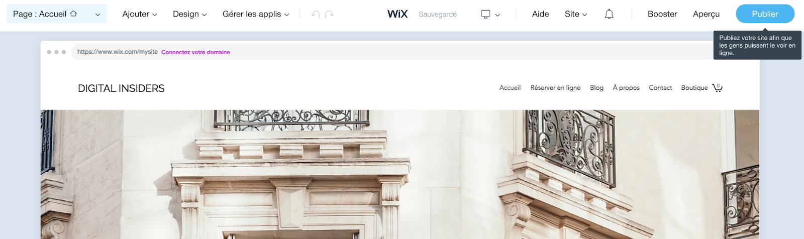 Choisissez un plan tarifaire WIX