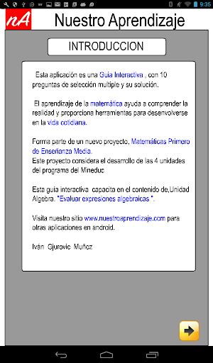 Evaluar  Expresiones 1.0.0 screenshots 9