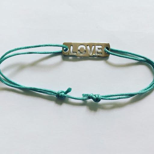 Bracelet plaque Love