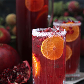 Pomegranate and Blood Orange Tequila Spritzer.