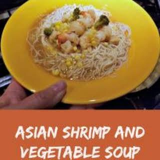 Asian Shrimp and Vegetable Soup - Winter Comfort Food.