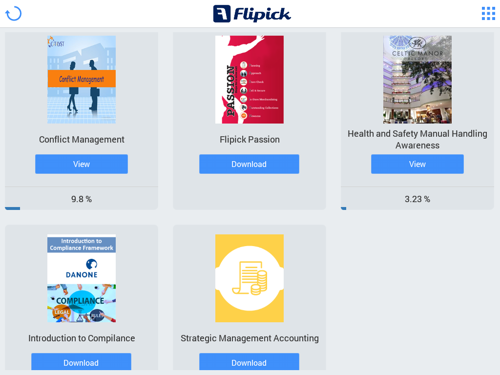 Flipick Corporate Demo- screenshot