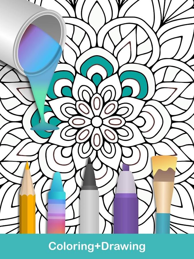 100 Mandala Coloring Pages Screenshot