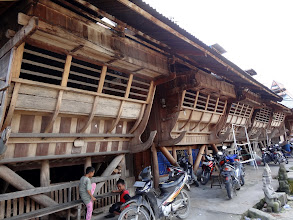 Photo: The traditional homes of the cultural village we visited. They are all connected to each other like row houses.