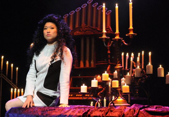 """Photo: GLEE: Tina (Jenna Ushkowitz) performs in the """"Choke"""" episode of GLEE airing Tuesday, May 1 (8:00-9:00 PM ET/PT) on FOX. ©2012 Fox Broadcasting Co. Cr: Mike Yarish/FOX"""