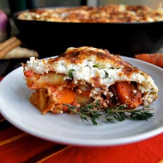 Root Vegetable Skillet Baked Lasagna