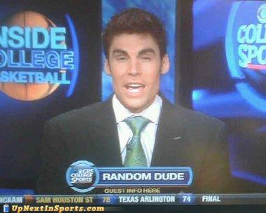 photo of a sportscaster identified as a random dude