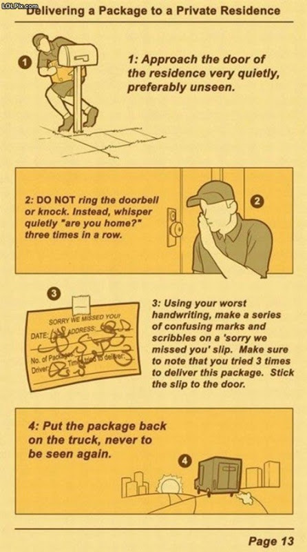 instructions on how the post office doesn't deliver packages