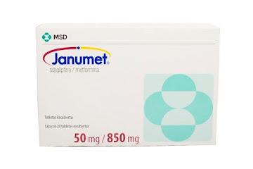 Sitagliptina + Metformina Janumet 50/850Mg Tabletas Caja x28Tab. MSD
