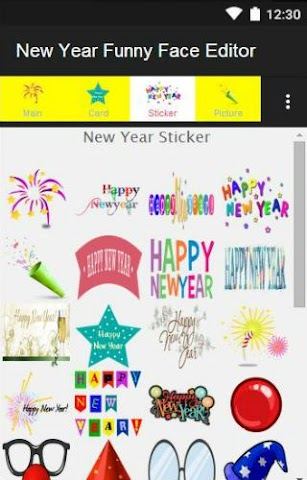android New Year Funny Face Editor Screenshot 6