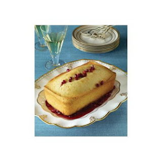 Brandied Pomegranate-Orange Pound Cake.