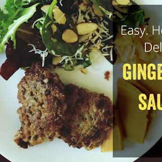 Easy Homemade Ginger Sage Sausage.