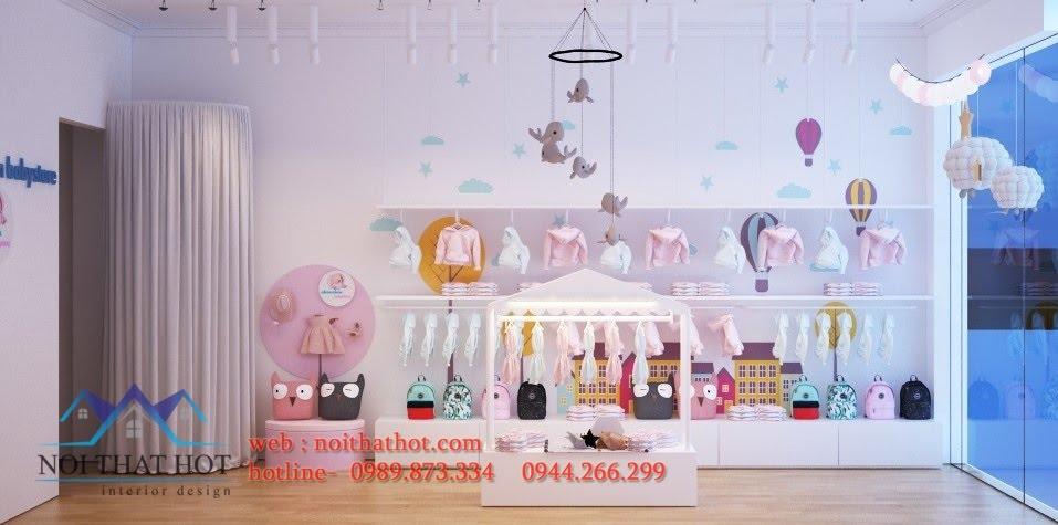 Thiết kế shop thời trang trẻ em cá tính