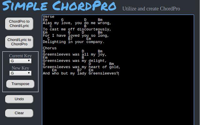 Simple ChordPro