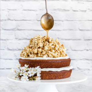 Nutmeg Plantain Cake With Coconut Caramel Popcorn - West African Flavours