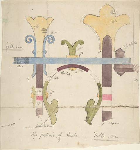 Design for Top Portion of a Gate, Full-Size