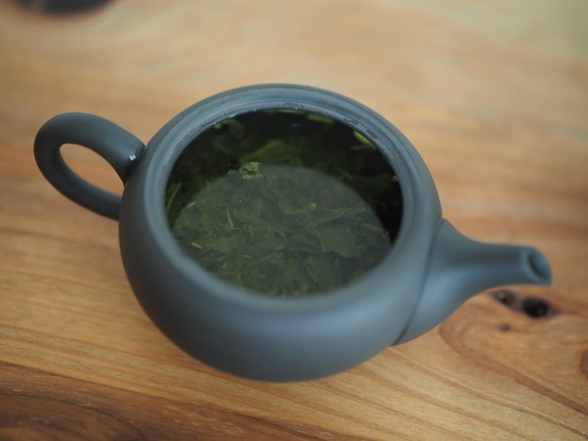 茶葉が良い感じに開いた