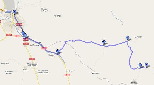 Mapa de como llegar a las Torcas de Palancares