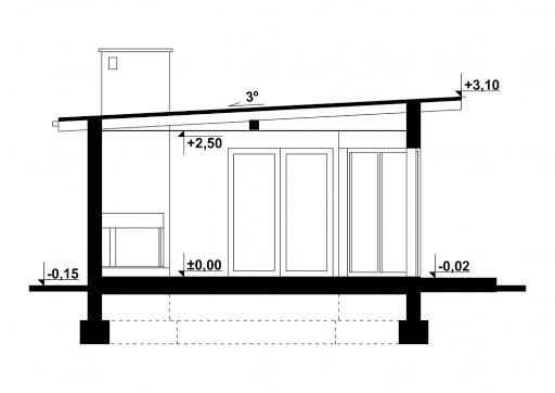 G177 - Budynek rekreacyjny - Przekrój