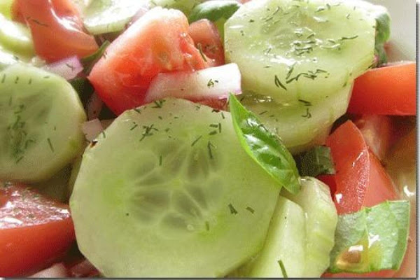 Cucumber Salad With Tomatoes Recipe
