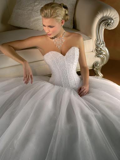 Strapless Bustier Wedding Gown