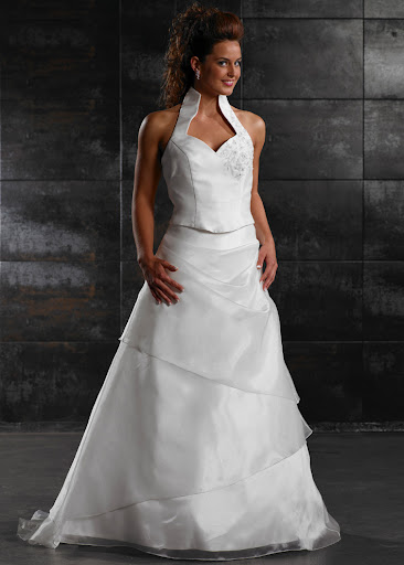 Bridal Gown + Halter V Neck