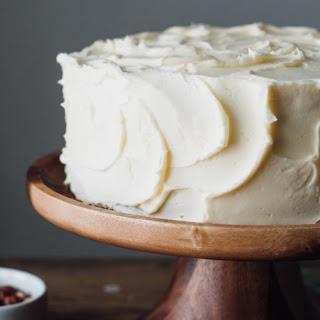 Chocolate Hazelnut Buttercream Cake With A Rich & Creamy Vanilla Frosting.