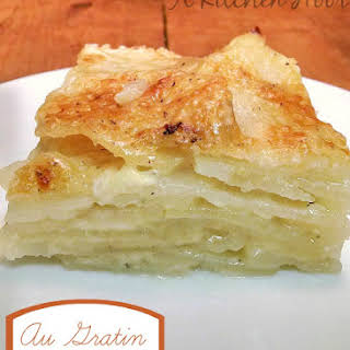 Thick and Creamy Au Gratin Potatoes.