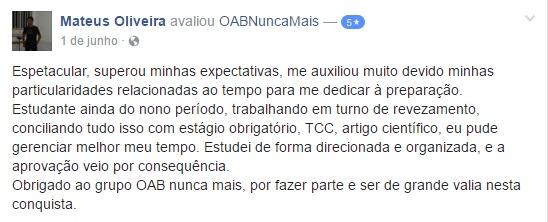 Aprovado OAB Nunca Mais - Mateus Oliveira