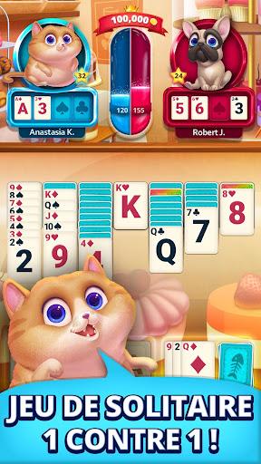 Solitaire Pets Aréna - Jeu de Cartes Gratuit  captures d'écran 1