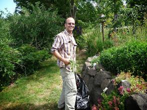 Photo: Garner in the garden