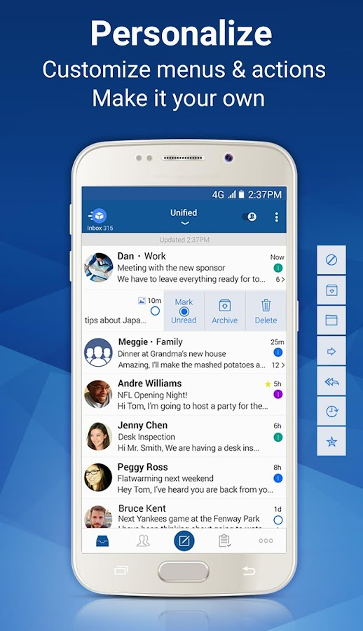 Blue Mail - Email & Calendar- screenshot