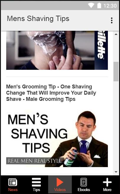 Fabulous Mens Shaving Tips Android Apps On Google Play Short Hairstyles Gunalazisus