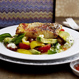 Pike With Avocado Cottage Cheese Salad
