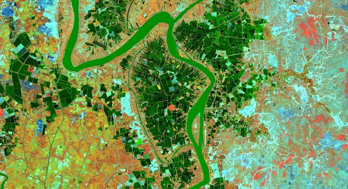 Aerial agriculture photo
