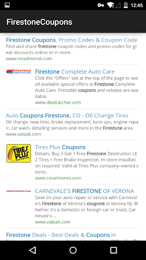 Coupons for Firestone