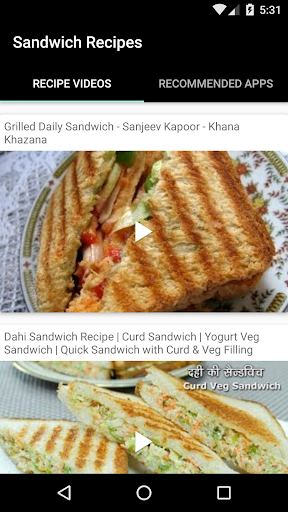 Sandwich Recipes  screenshots 1