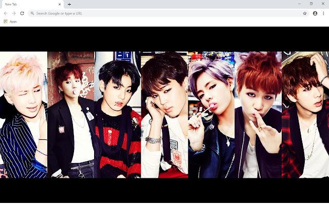 BTS Bangtan Boys Music Wallpapers and New Tab