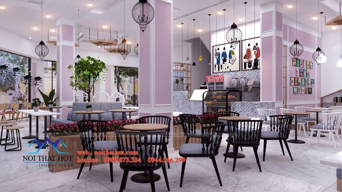 thiết kế quán trà sữa hei tea 9