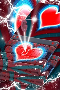Red Heart Keyboard - náhled