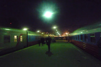 Photo: Departing at night from Moscow with... the transiberian! Finally !!