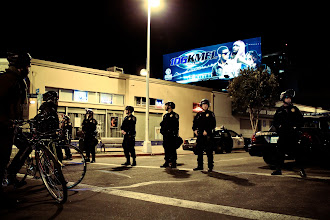 Photo: Tupac overlooking Occupy Oakland. By Joe Sciarrillo