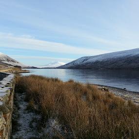 by Rachel Startin - Instagram & Mobile Android ( scotland, mountains, snow, loch, highlands, landscape )