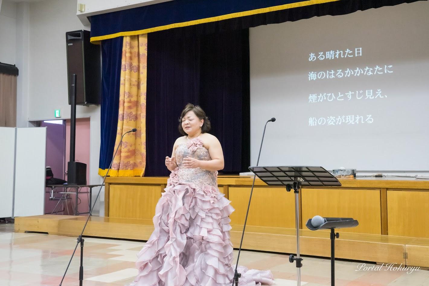 『蝶々夫人』を歌う菊入三恵さん