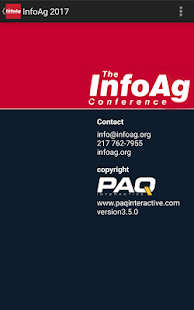 2017 InfoAg Conference App- screenshot thumbnail